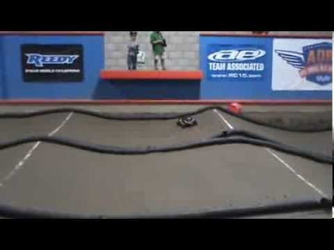 Cayden driving his Traxxas Slash at Air Dawg RC Raceway Feb 2014