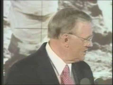 Neil Armstrong's cryptic speech