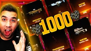 EPIC 1000 CRYPTOKEY OPENING - Black Ops 3 RARE Supply Drop OPENING! BO3 New Weapon HUNT (EPIC CAMOS)