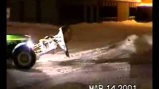 Deslamco - 7 - Tracteur 'bank' amoncellement de neige. 27sec