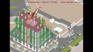 BIM 4D DỰ ÁN P.A TOWER _ Navisworks