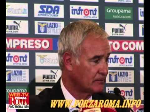 Ranieri dopo derby Lazio-Roma 0-2 del 07/11/2010