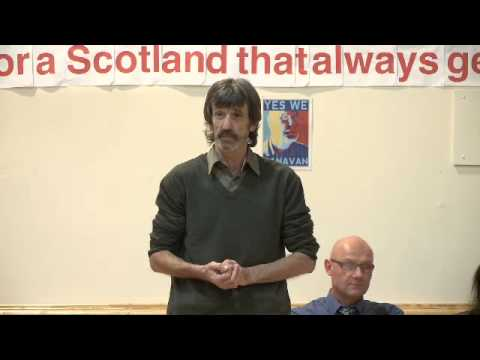 Alex Bell, Chair, Labour for Independence at Yes Scotland meeting, Kilbirnie 24/10/13