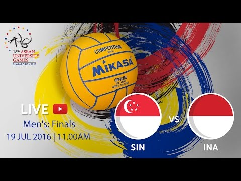 Waterpolo Men's: Finals SIN v INA | 18th ASEAN University Games Singapore 2016
