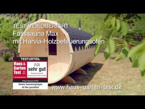 Test Aufbau 2-Raum-Fass-Sauna Max