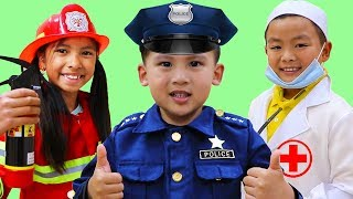 Jobs Career & Professions Song | Wendy & Friends Pretend Play Nursery Rhymes Kids Songs
