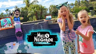 Hello Neighbor in Real Life Mermaid! Hatchimals Colleggtibles Mermal Magic Toys Scavenger Hunt!
