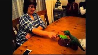 Funny Mum Playing Dino Bite