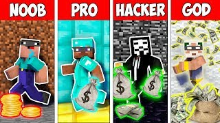 Minecraft NOOB vs PRO vs HACKER VS GOD : BANK ROBBERY in Minecraft ! AVM SHORTS Animation
