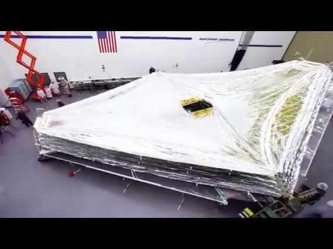 Time-lapse: James Webb Space Telescope Sunshield Deployment Test