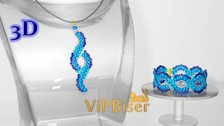 Beaded Pendant Wave. 3D Beading Tutorial