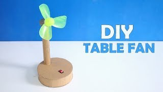 How to Make an Electric Table Fan Using Cardboard - Very Easy DIY At Home