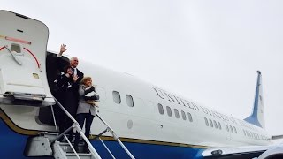 Vice President Mike Pence Boards Air Force 2 as he Leaves Indiana for Washington DC!!!