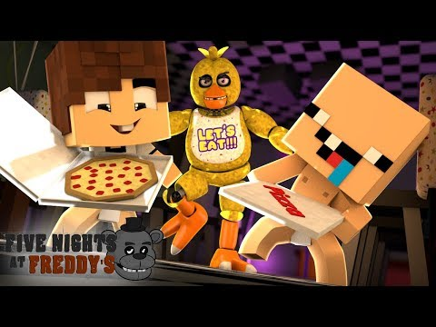 VIRAMOS ENTREGADORES DA PIZZARIA FIVE NIGHTS AT FREDDY'S !!! - MINECRAFT