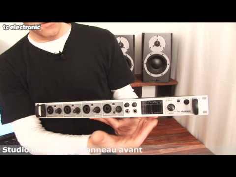interface audio Studio Konnekt 48 de TC Electronic : description de la face frontale