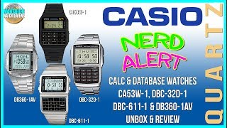 Can't Buy Me Love! | Casio's Best Calculator & Database Watches Comparison, Unboxing & Review