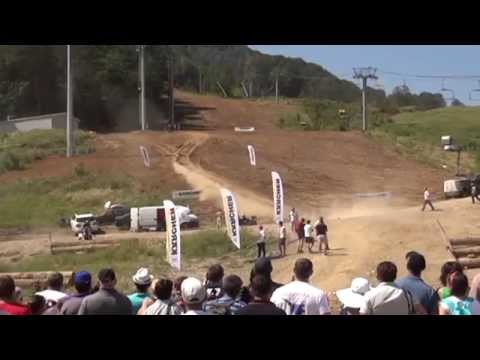 Now in Krasnaya Polyana, a festival of bikers and motocross. . Sochi, Russia - 16.08.2014