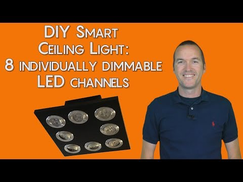 DIY LED Ceiling Light: 8 Individually Dimmable Channels
