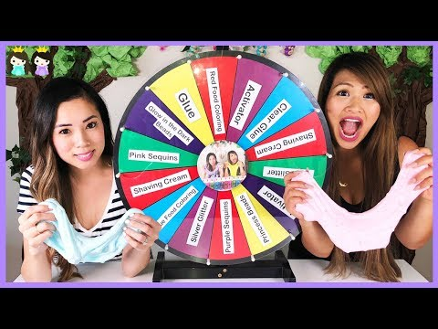 MYSTERY WHEEL OF SLIME CHALLENGE with Princess ToysReview!!!