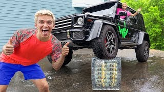 CRUSHING $1 MILLION UNBREAKABLE BOX with SPY WAGON MONSTER TRUCK! (Satisfying Car Crush)