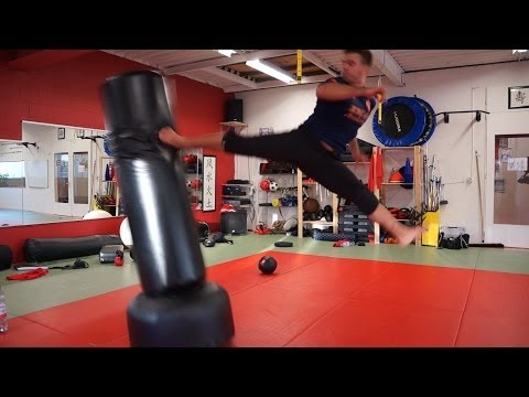 Scott Adkins Undisputed 4 Training Style 2014 Betim Alimi Kicking session