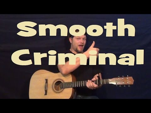 Smooth Criminal Michael Jackson Easy Strum Guitar Lesson How to Play Tutorial