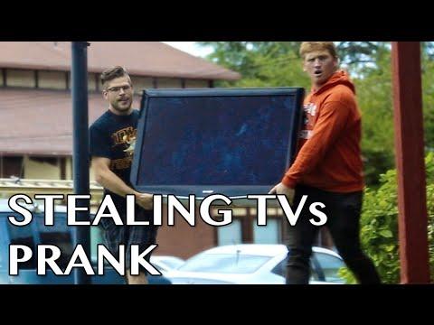 Stealing TVs Prank