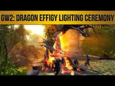 Guild Wars 2 | Dragon Effigy Lighting Ceremony