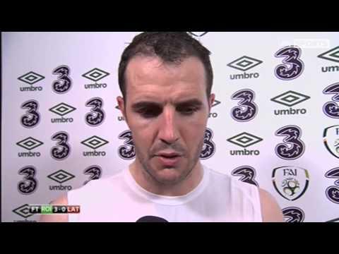 Republic of Ireland v Latvia - Post Match Interviews - John O'Shea and James McCarthy (15/11/13)