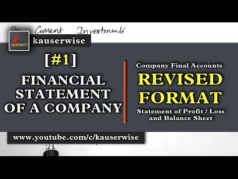 Company Final Accounts Format as per( REVISED SCHEDULE VI) accounting tutorial