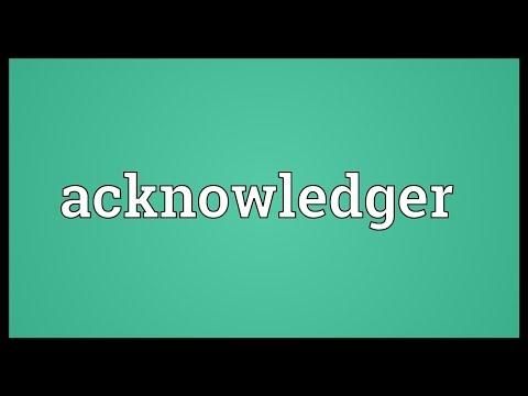 Header of Acknowledger