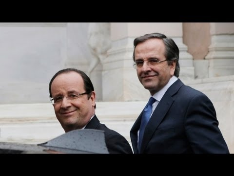 Hollande in Greece, calls for new investment