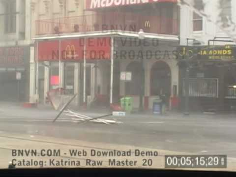 8/29/2005 Hurricane Katrina, Eye Wall On Canal Street, New Orleans, LA.- Raw Master 20
