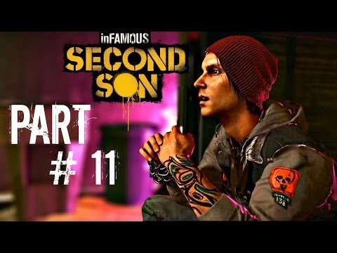 Let's Play Infamous: Second Son - Part 11 (Trash the Stash / Houseboats) Gameplay