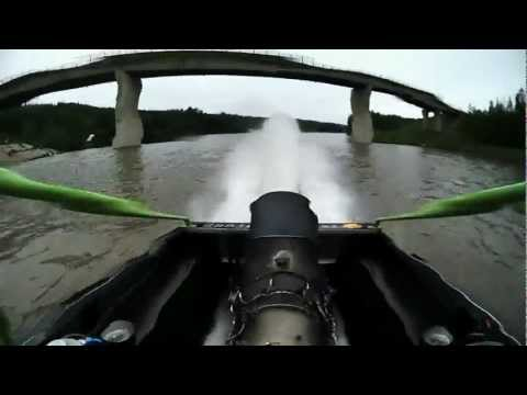 We've built the engine, and we've put it in the boat. After our little spin on the lake, the next thing to do is watch Gord and Chris put it through its paces in a real race. The only other...