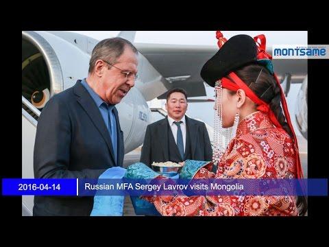 Russian MFA Sergey Lavrov visits Mongolia