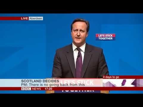 David Cameron - Scottish Independence Speech in Aberdeen 15 September 2014