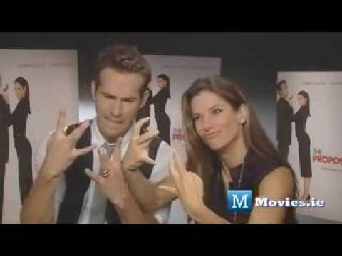 Sandra Bullock and Ryan Reynolds Funny Moments (the proposal bloopers, interview)