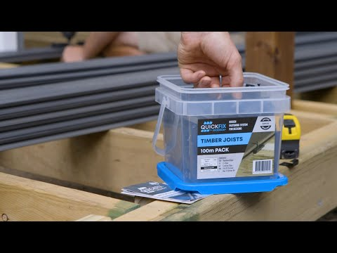 How to install Ekodeck+ using Quickfix 6mm System on Timber Joists Composite Decking InstallationDIY