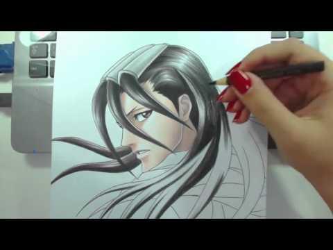 Speed Drawing - Kuchiki Byakuya (Bleach)