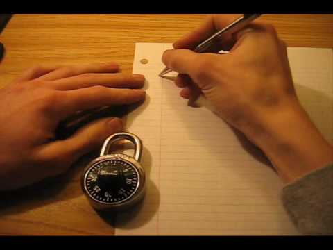 How to Crack a Master Lock Combination Lock