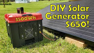 Building a 3.5kWh DIY Solar Generator for $650 - Start to Finish