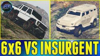 Insurgent VS Dubsta 6x6 Offroad Battle In GTA 5 Online!!! (Best Offroad Trucks)