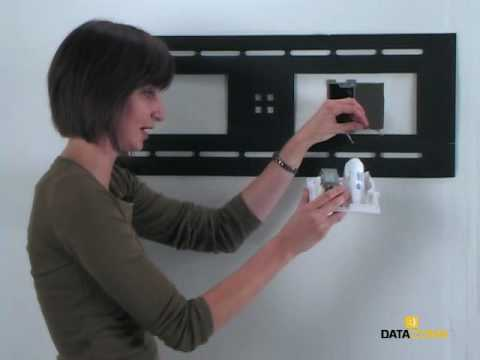 How To Install A Flat Panel Tv Cable Organizer Kit With