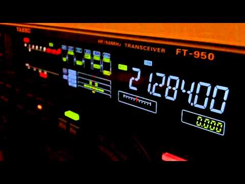 Rough Ham Radio DX QSO Yaesu FT-950 ...ends well!