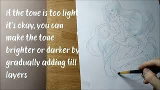 Watercolor Painting Tutorial Anime girl