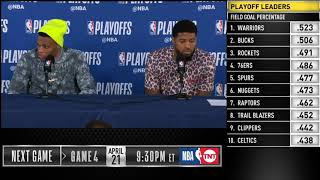 Russell Westbrook & Paul George postgame press conference | Thunder vs Blazers - Game 3