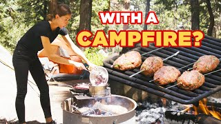 Can This Chef Make A 3-Course Meal With A Campfire? • Tasty