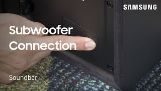 How to manually connect the subwoofer to your 2018 Soundbar | Samsung US