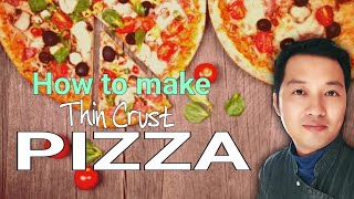 How to make Thin Crust Pizza | Italian Pizza | Home made